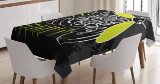 Keep Shining Calligraphy Tablecloth