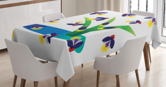 Bugs Flying around Water Tablecloth