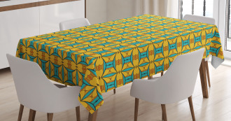 Kaleidoscopic and Ethnic Tablecloth