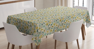Retro Butterfly Wings Floral Tablecloth