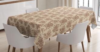 Oriental Blooming Peonies Tablecloth