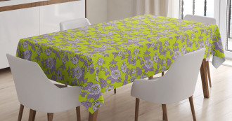 Romantic Garden of Dog Roses Tablecloth
