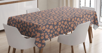 Blossoming Doodle Flowers Tablecloth