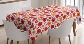 Warm Colored Petals Tablecloth