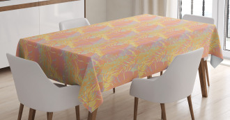 Exotic Hawaii Plant Jungle Tablecloth