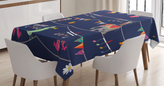 Cartoon Animal Festive Tablecloth