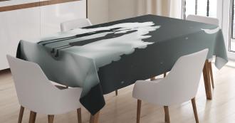 Fairytale Night Sky Cloud Tablecloth