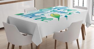 Botanical Natural Tablecloth