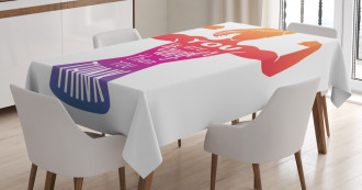 Fitness Strong Woman Figure Tablecloth