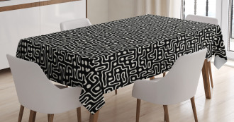 Maze Stripes with Dots Tablecloth