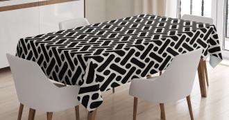 Modern Symmetric Shapes Tablecloth