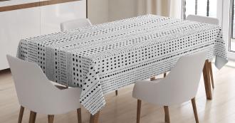 Vertical Big Little Dots Tablecloth