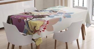 Retro Spring Bird Tablecloth