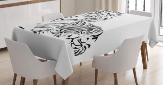 Safari Animal Sitting Tablecloth