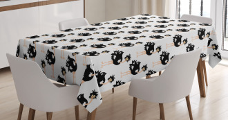 Wild African Baby Animal Tablecloth