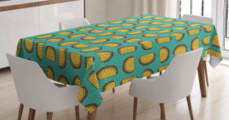 Mexican Dish with Tortillas Tablecloth