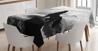 Howling Under Full Moon Tablecloth