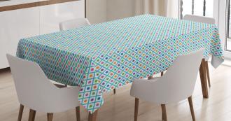Checkered Diagonal Squares Tablecloth