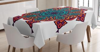 Geometric Floral Motif Tablecloth