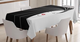 Extra Long Straight Hair Tablecloth