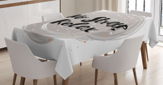 No Stress Relax Lettering Tablecloth