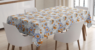 Flourishing Spring Flowers Tablecloth