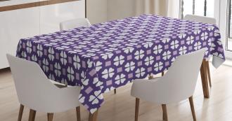Four Leaf Clovers Motif Tablecloth