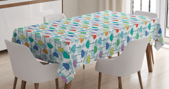 Parasol Pattern in Rain Tablecloth