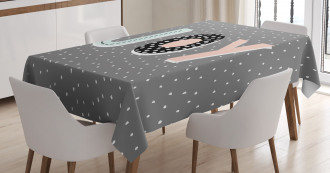 Cartoon Illustrated Message Tablecloth