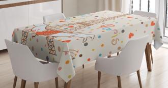 Eiffel Love Birds Tablecloth