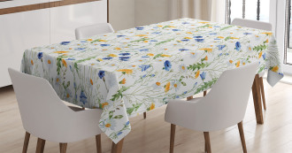 Poppies Daisies Rural Tablecloth