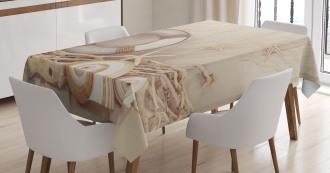Life Buoy Wooden Sepia Tablecloth