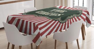 Advertisement Theme Tablecloth