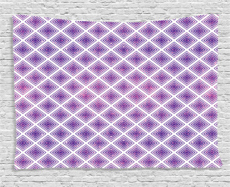 Retro Style Abstract Wide Tapestry