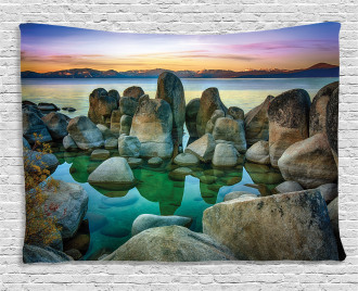 Californian Coastline Wide Tapestry