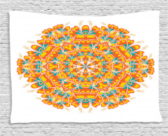 Exotic Flower Wide Tapestry