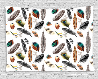 Vivid Feathers Vivid Art Wide Tapestry