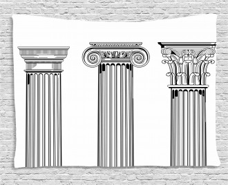 Antique Column Capitals Wide Tapestry