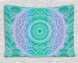 Mandala Geometric Figure Wide Tapestry
