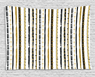 Vertical Lines Rounds Wide Tapestry