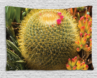 Cactus Plant with Spikes Wide Tapestry