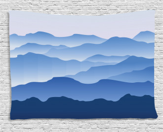 Nature Theme Silhouette Wide Tapestry