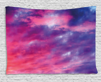 Magical Cloudy Sunset Wide Tapestry