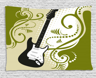 Electric Bass Guitar Wide Tapestry