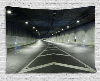 Interior Urban Tunnel Wide Tapestry