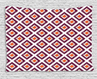 Triangles Artwork Print Wide Tapestry