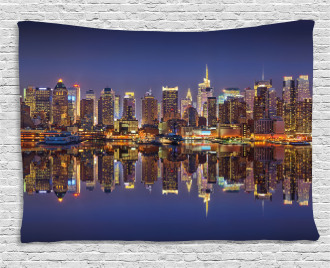 New York City Usa Wide Tapestry