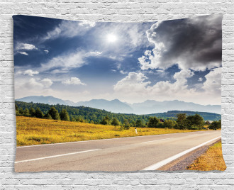 Road Hot Sunny Road Wide Tapestry