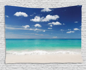 Summer Beach Coast Wide Tapestry