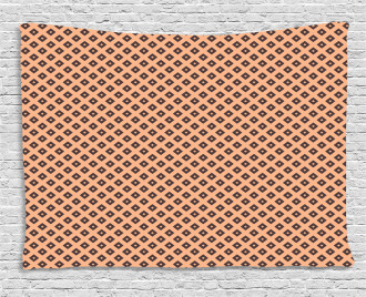 Diagonal Tile Square Wide Tapestry